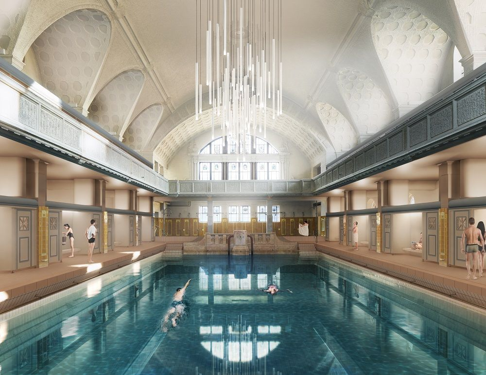 Restauration des bains municipaux de Strasbourg